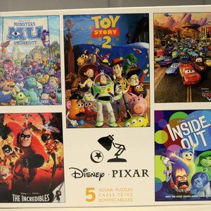 Disney Pixar 5 Jigsaw Puzzles Toy Story Inside Out